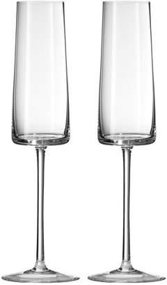 Vera Wang Wedgwood Set Of 2 Metropolitan Flute Glasses