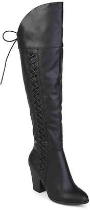 3f449eaad845 Journee Collection Black Over The Knee Women s Boots - ShopStyle