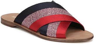 Diane von Furstenberg Bailie-2 Ribbon Crisscross Flat Slide Sandals