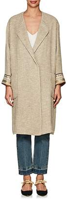 Giada Forte Women's Embellished Linen-Blend Coat