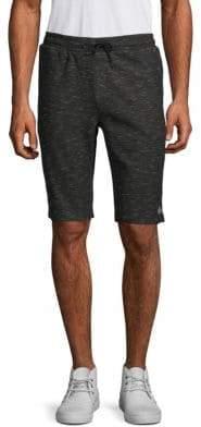 ProjekRaw Black N' Blanc Cotton Blend Shorts