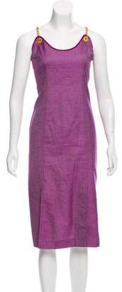 Rena Lange Chain-Link Twill Dress