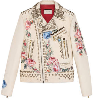 Hand-painted leather biker jacket $15,500 thestylecure.com