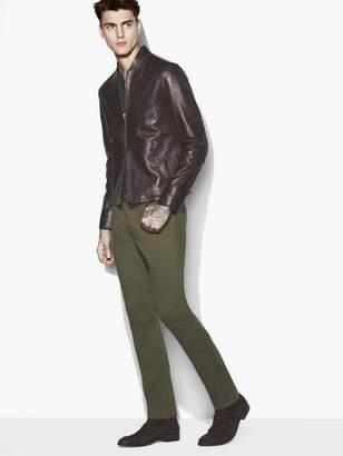 John Varvatos Modern Band-Collar Jacket