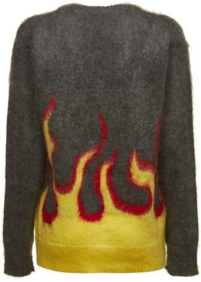 Prada Knitted Flaming Sweater