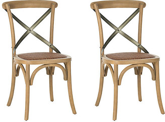 One Kings Lane Set of 2 Graham Side Chairs - Almond
