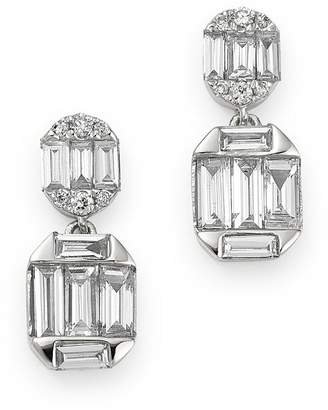 Bloomingdale's Diamond Baguette Drop Earrings in 14K White Gold, 0.60 ct. t.w. - 100% Exclusive