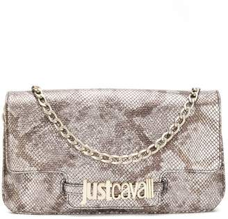 Just Cavalli snakeskin effect clutch bag