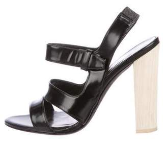 Narciso Rodriguez Leather Cutout Sandals