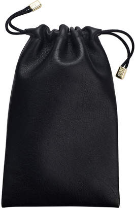 Stow Personalized Obsidian Black Leather Accessories Pouch