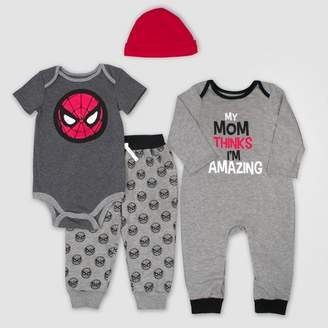 Marvel Baby Boys' 4pc Spider-Man Set - Gray