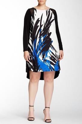 Julia Jordan - 33539 Long Sleeve Graphic Dress $372 thestylecure.com