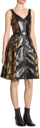 Alberta Ferretti Women's Metallic Floral Dress