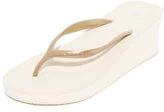 Havaianas High Fashion Wedge Sandals $38 thestylecure.com