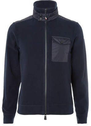 Moncler Maglia Shell-Panelled Fleece Zip-Up Base Layer