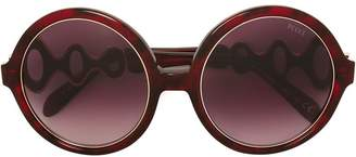 Emilio Pucci oversized round frame sunglasses