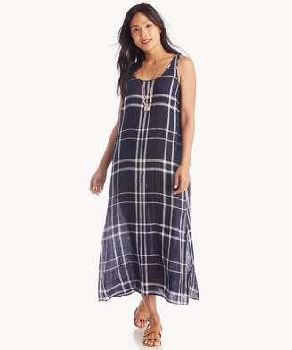 Sole Society Linen Beach Plaid Maxi Dress