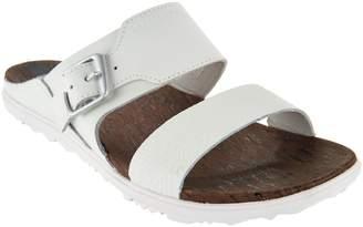 Merrell Leather Slide Sandals w/ Buckle - Around Town