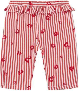 Il Gufo Striped Ruffle Waist Trousers