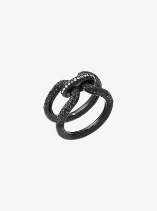 Michael Kors Black-Tone Chain-Link Ring
