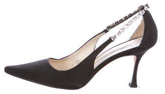 Brian Atwood Canvas Slingback Pumps
