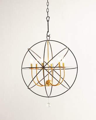 Crystorama Gold Orbit 6-Light Chandelier