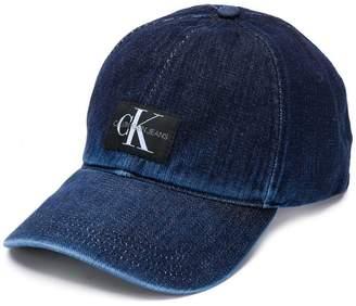 344d3eabc1c69 at Farfetch · Calvin Klein Jeans logo denim baseball cap