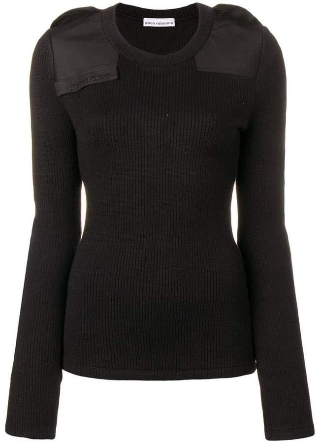 padded knit jumper