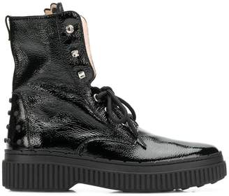 Tod's studded military boots