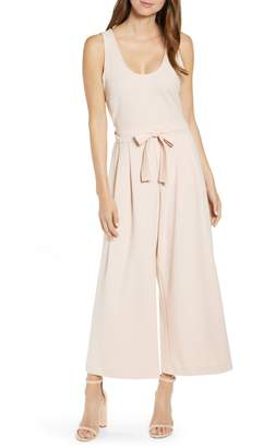 Rachel Roy Collection Wide Leg Scuba Jumpsuit