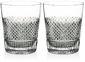 Diamond Line Double Old-Fashioned Glass, Set of 2