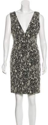 Alice + Olivia Jacquard Knee-Length Dress