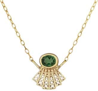 Celine Daoust Aztek Sun Sapphire Diamond Necklace