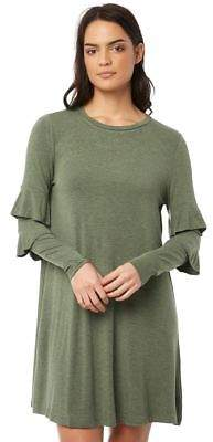 New Betty Basics Women's Chicago Dress Long Sleeve Viscose Elastane Green