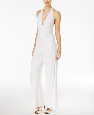 GUESS Roswell Open-Back Off-The-Shoulder Jumpsuit $108 thestylecure.com