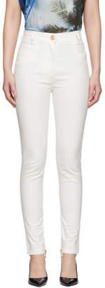 Balmain White High-Waist Jeans