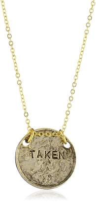 """Alisa Michelle Short and Sweet"""" 14K Plated Double Sided Single and Taken Coin Necklace"""