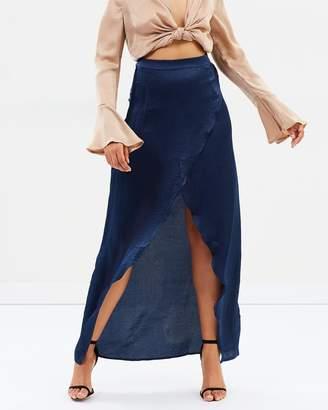 Missguided Satin Split Maxi Skirt