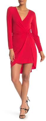 BCBGeneration Long Sleeve Front Knot Dress
