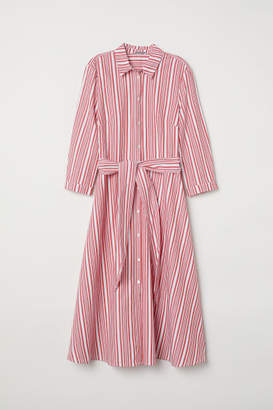 H&M Striped Shirt Dress - Red