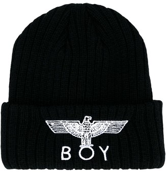 Boy London Kids embroidered logo beanie