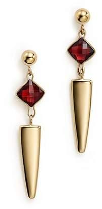 Bloomingdale's Garnet Dagger Drop Earrings in 14K Yellow Gold - 100% Exclusive