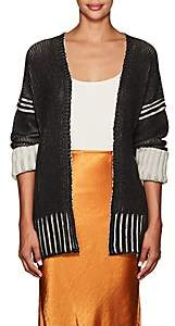 Zero Maria Cornejo Women's Colorblocked Cashmere-Wool Cardigan - Black