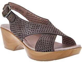 Dansko Nubuck Leather Perforated Sandals -Jacinda