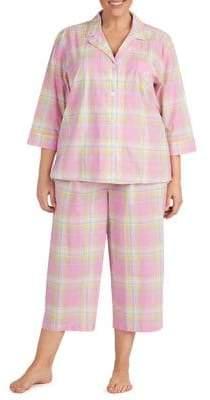 Lauren Ralph Lauren Plus Two-Piece Cropped Pajama Set