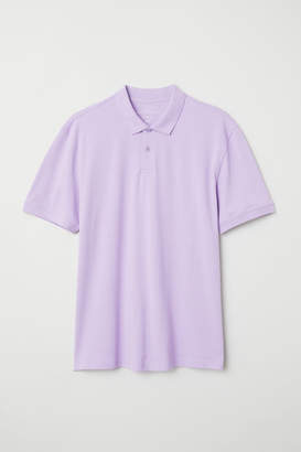 H&M Short-sleeved Polo Shirt - Purple