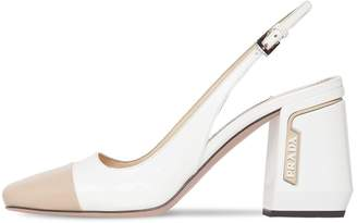 Prada 85mm Patent Leather Slingback Pumps