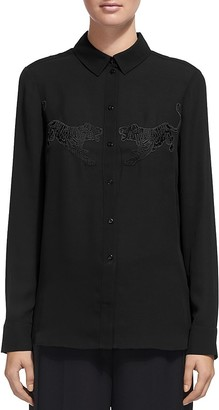 Whistles Tiger-Embroidered Shirt $250 thestylecure.com