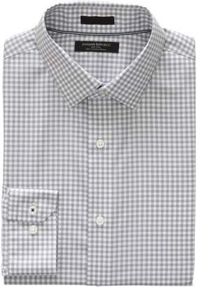Banana Republic Camden Standard-Fit Non-Iron Stretch Gingham Shirt