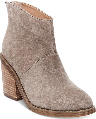 Steve Madden Women's Shrines Back-Zipper Block-Heel Booties $109 thestylecure.com